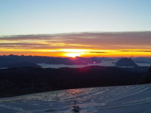 Sonnenaufgang am Dachstein 2014